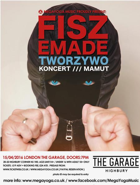 Fisz Emade & Tworzywo 'Mamut Tour' w Londynie