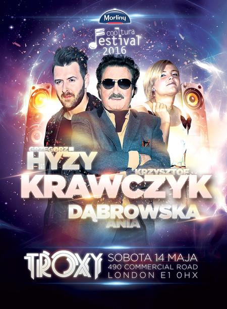 Krzysztof Krawczyk, Ania Dąbrowska, Grzegorz Hyży w Londynie