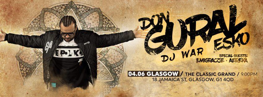 DonGURALesko & DJ War w Glasgow