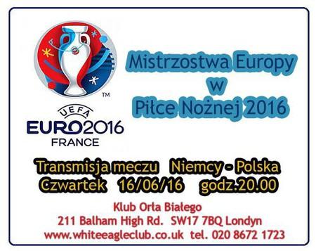 Transmisja meczu Niemcy-Polska EURO 2016