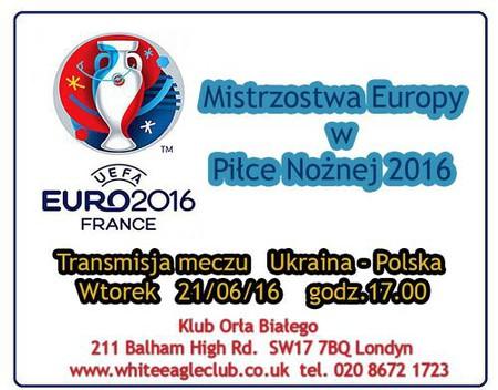 Transmisja meczu Ukraina-Polska EURO 2016