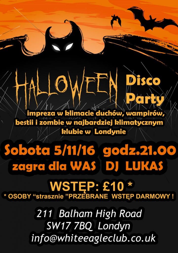 Halloween Disco Party w Londynie