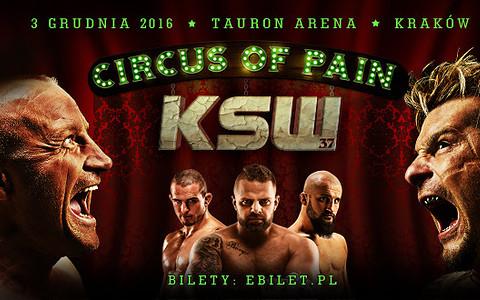 Transmisja gali KSW 37 - Circus of Pain!
