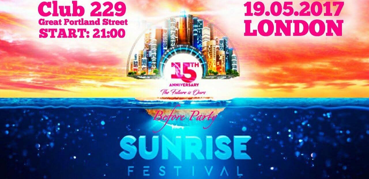 Before SunRise Festival 2017 w Londynie