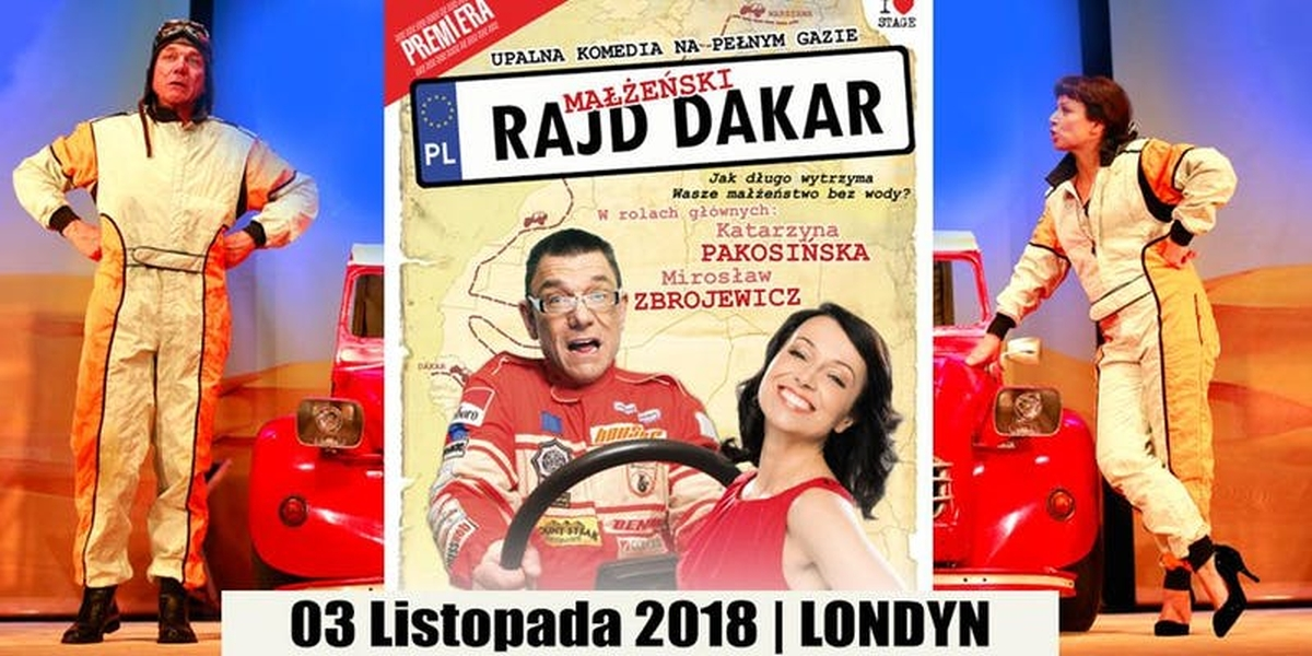 Spektakl 'Małżeński Rajd Dakar' w Londynie